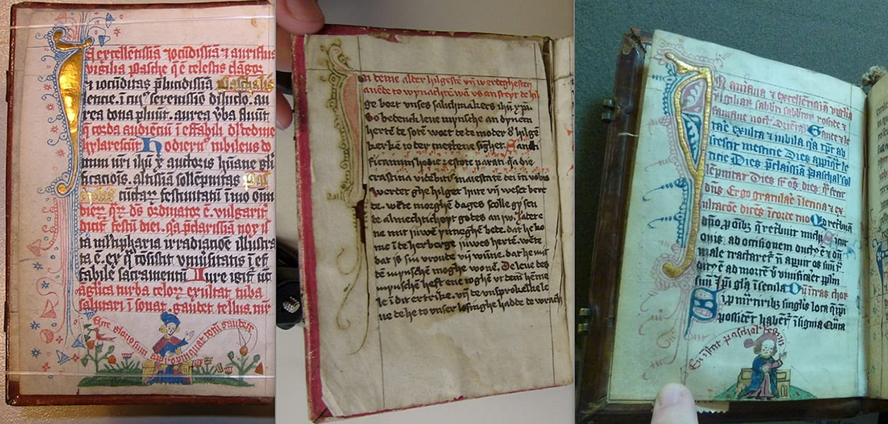Hildesheim, Wolfenbüttel and Oxford manuscripts, photographed by the author
